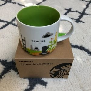 Starbucks Illinois you are here collection mug